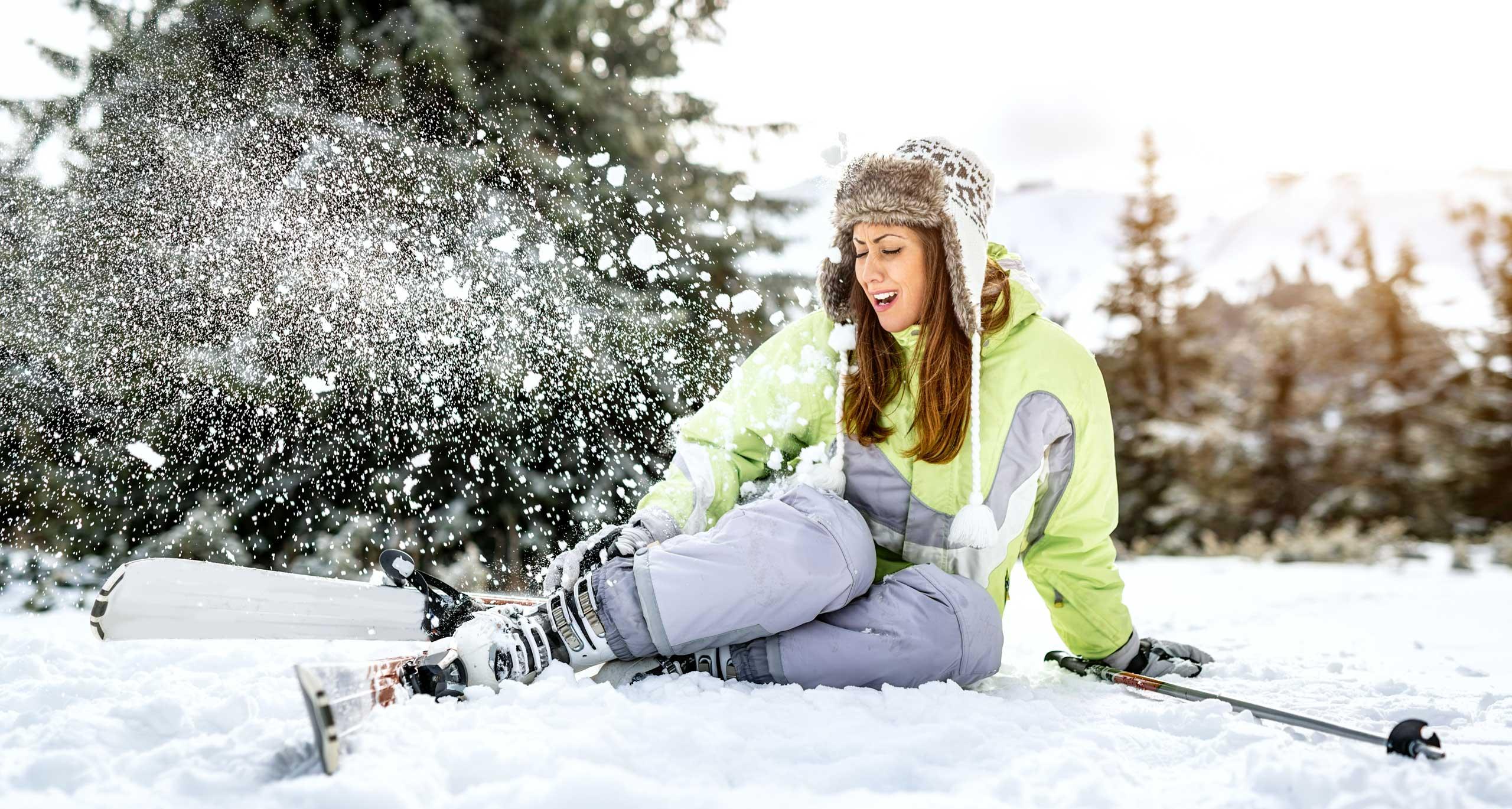 Unfallversicherung Skiunfall