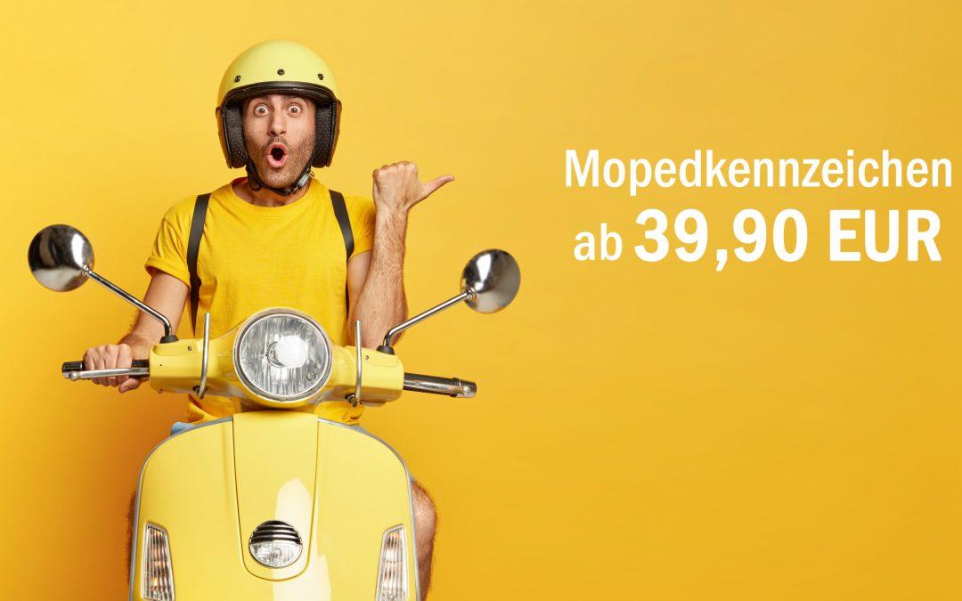 Mopedkennzeichen ab sofort erhältlich